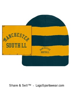 Sportsman Rugby Striped Knit Beanie Design Zoom