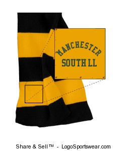 Sportsman Rugby Striped Knit Scarf Design Zoom
